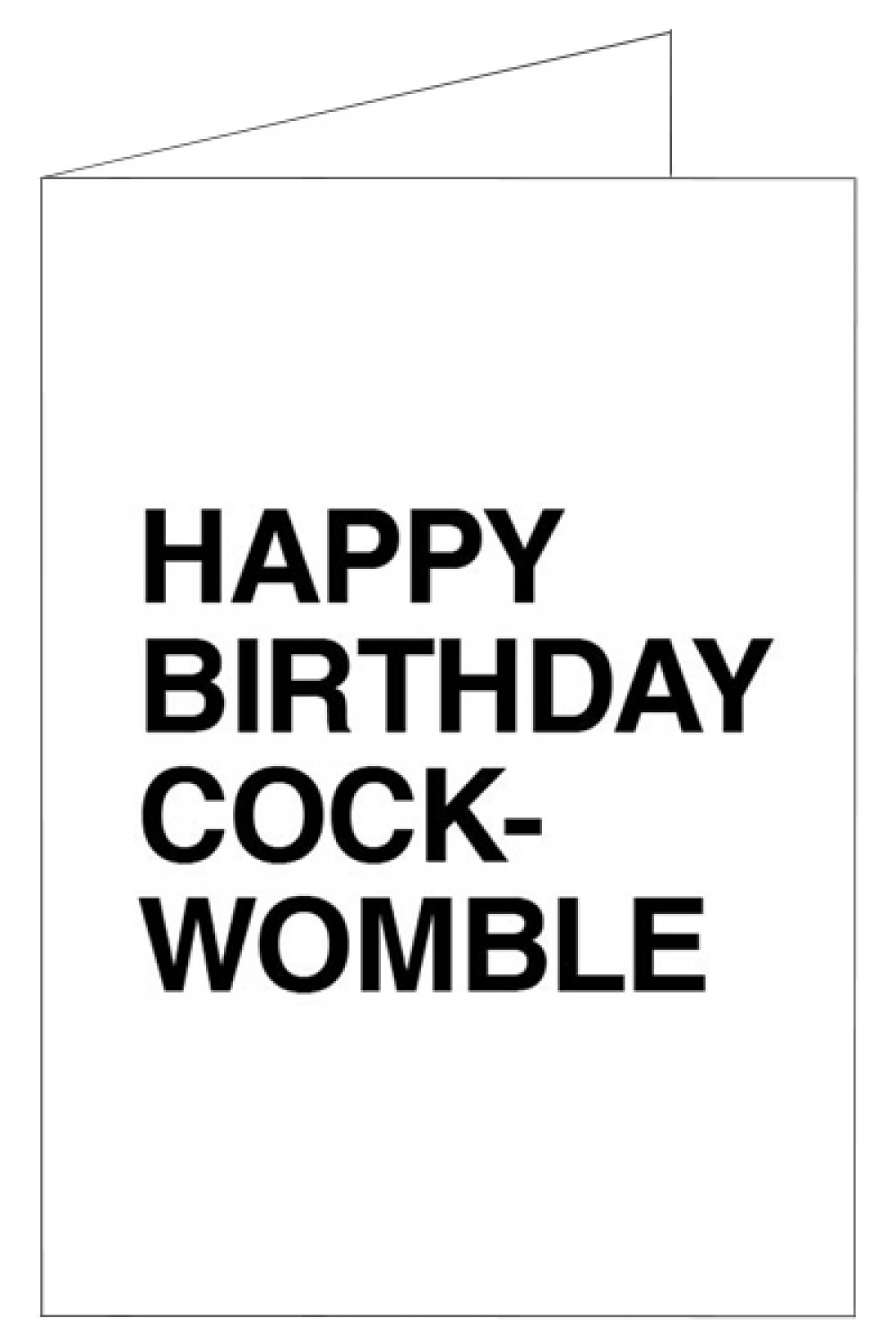 Happy birthday cockwomble insults happy birthday cockwomble insulting birthday cards m4hsunfo