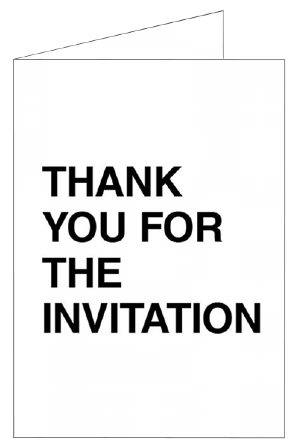 Thank you for the invitation, but... - Invitation RSVP cards